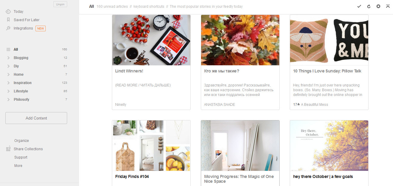 feedly-interface