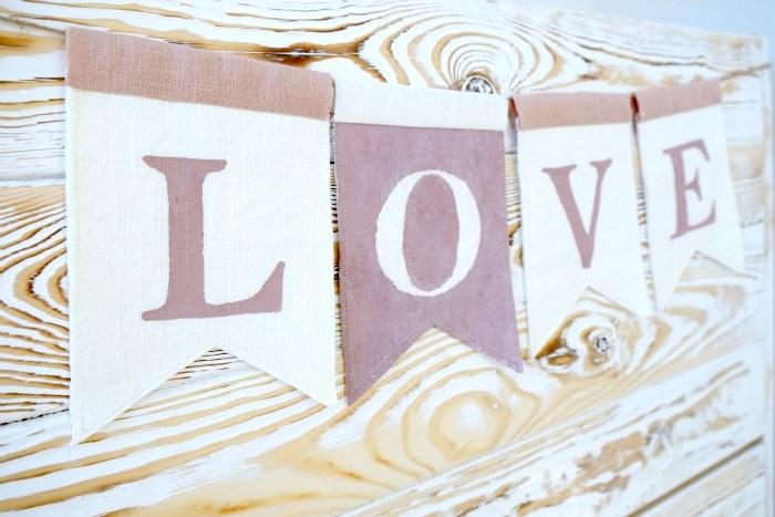 Мастер-класс: Гирлянда LOVE из ткани
